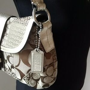 Coach Bags - Coach Gold Shoulder Bag